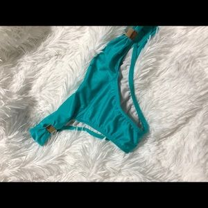 Teal bathing suit bottom